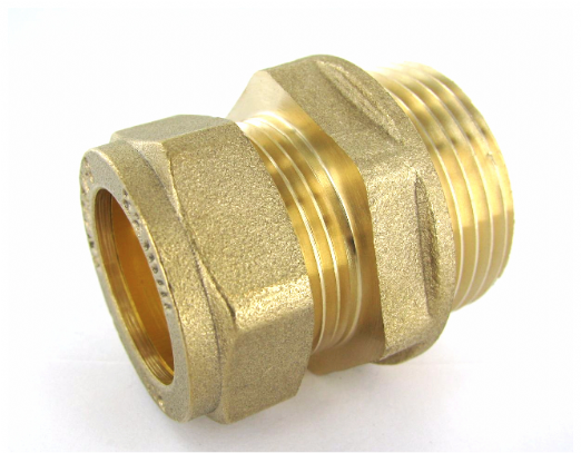 FT.220 22mm x 1 Inch BSP Male Compression Coupler Brass Fitting