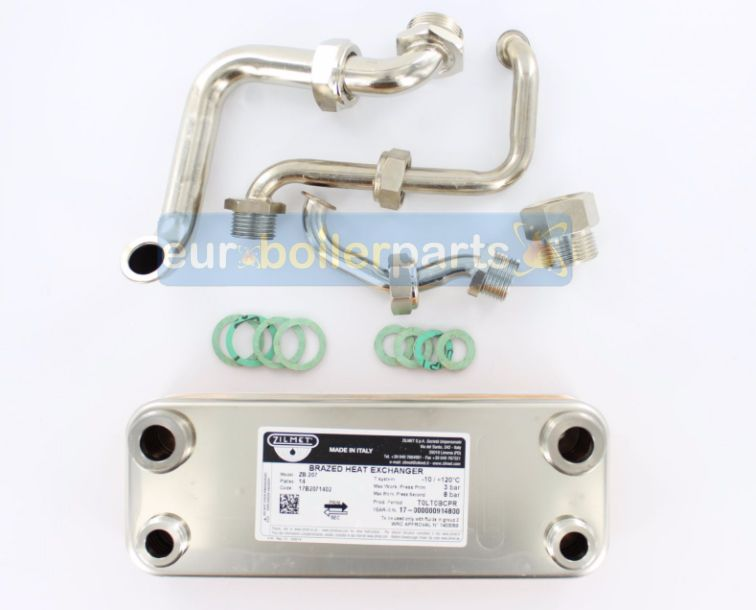 HE.112 Heat Exchanger Compatible with Vaillant VC VCW (3 Pipes) 06-5034 065034 Compatible